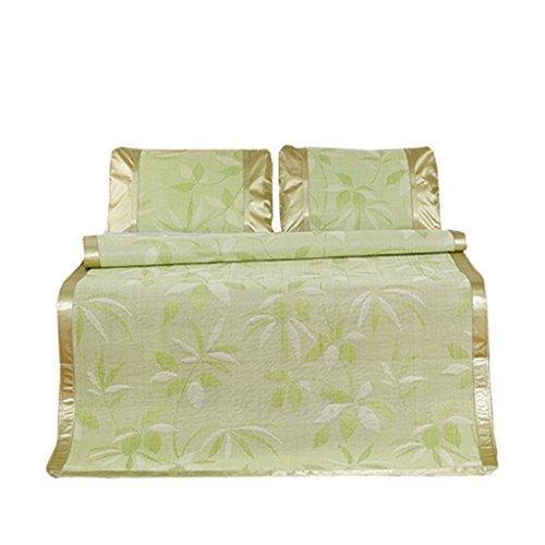 Sièges de rotin de couleur pliable Mat 1.2 M 1.5/1.8m Matelas de lit Sièges de dortoir simple d'étudiant de trois pièces Mats Xuan - worth having (Couleur : Vert, taille : 180*200cm)