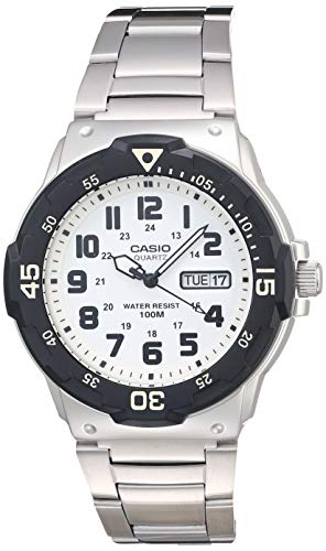 Casio Men's Diver Style Quartz Watch with Stainless Steel Strap, Silver, 23.8 (Model: MRW-200HD-7BVCF)