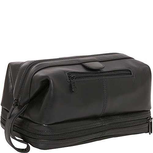 Leather Toiletry Bag - Black (#26-0)