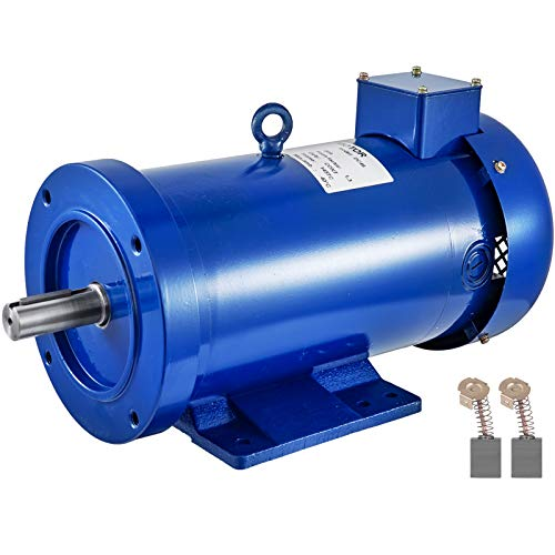 Mophorn 2HP DC Motor 90V Rated Speed 1750RPM 145TC TEFC Permanent Magnet DC Motor with Carbon Brushes
