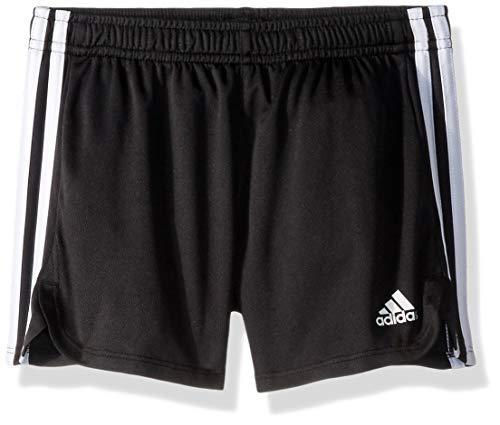 adidas Girls' Big Athletic Shorts, Black YTH, Medium