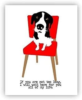 Hound Dog Poster Oscar Wilde Quote Rescue 11 x 14