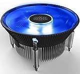 Cooler Master i70C Copper Core CPU Cooler 12cm LED Blue Light Quiet Cooling Fan for Intel 1156 1155 1151 1150 CPU Radiator 120mm PC Fan.