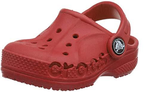 Crocs Unisex Kids Baya Clog Kids for Toddlers Boys Girls, Red Pepper 6en, 3 UK