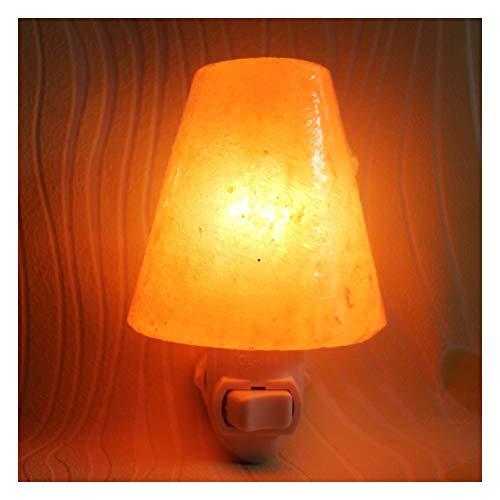 Lampe de sel de cône, lampe de sel Himalaya murales lampes E14 10W pour la purification de l'Air, de cadeaux et de décoration intérieure