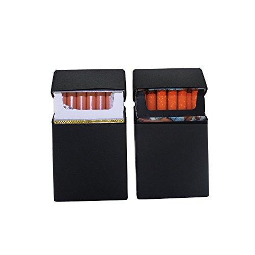 Boshiho Silikon Zigarettenetui Zigarettenetui Deckel Leichtes, weiches Zigarettenetui Box Fashion Design Style Full Pack Schutzhülle 2 Stück (schwarz)