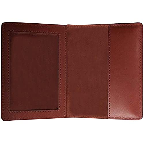 Funda protectora para pasaporte (piel sintética, para tarjetas de crédito y documentos de viaje, estilo vintage), color marrón
