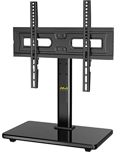 TV Standfuß, Schwenkbarer, höhenverstellbarer TV Ständer Max.VESA 400x400mm für 32-55 Zoll LED LCD Flach & Curved Fernseher oder Monitore bis zu 40kg