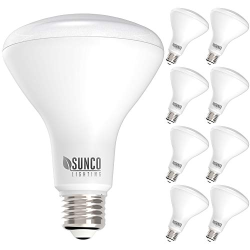 Sunco Lighting 8 Pack BR30 LED Bulb 11W=65W, 3000K Warm White, 850 LM, E26 Base, Dimmable, 25,000 Lifetime Hours, Indoor Flood Light for Cans - UL & Energy Star
