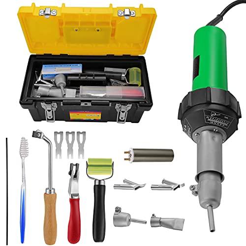 KKTECT Herramienta de soldadura de soldador de plástico 1600W Kit de pistola de aire caliente de 21 piezas 20 ℃ - 600 ℃ Control de temperatura variable Bricolaje pelar pintura contracción PVC