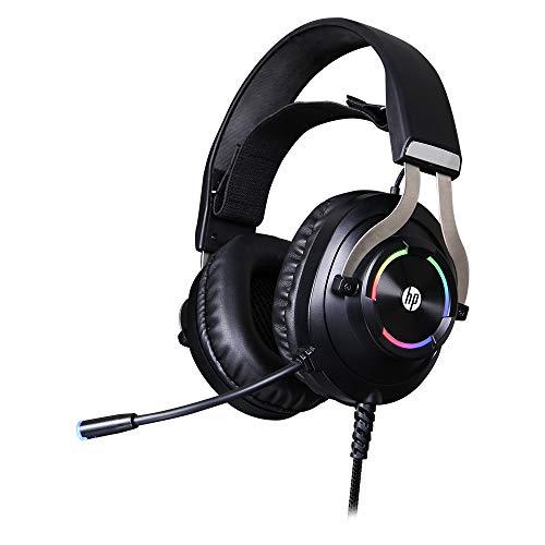 Headset Gamer HP H360GS, Drivers 50MM, preto USB 7.1 surround, RGB