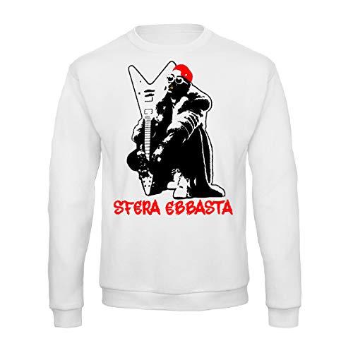 Art T-shirt, Sudadera Raglan Sfera Ebbasta para hombre Bianco M