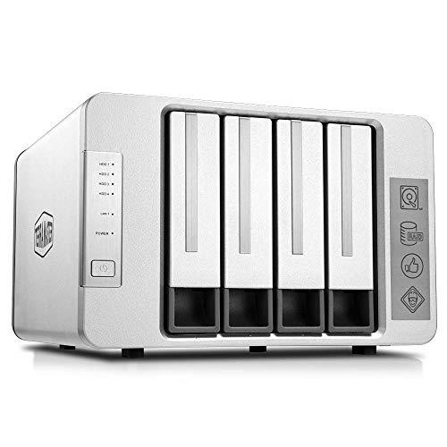 TerraMaster F4-210 4-Bay NAS Quad Core 1GB RAM Raid Gehäuse Medienserver persönliche Cloud-Speicherung (ohne Festplatte)