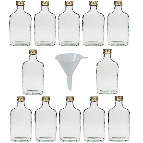 """Viva Haushaltswaren-""""- Set di 12 Pezzi in Vetro, 200 ml, Bottiglia da liquore, A Imbuto"""