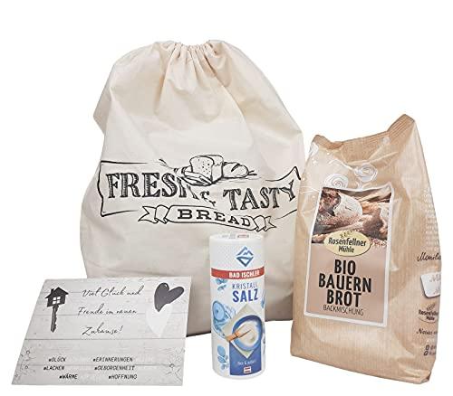 STAWOXX® Einzugsgeschenk Brot und Salz - Geschenkset für Umzug, Hauseinweihung, Einzug in die Wohnung, Richtfest, neue Nachbarn - mit diesem Umzugsgeschenk bringen Sie Glück ins neue Haus
