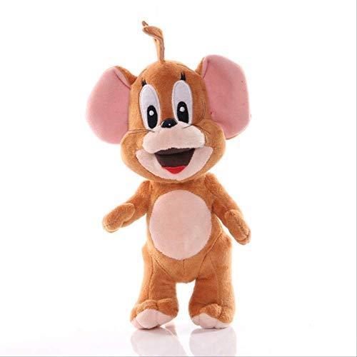 N\A 25 Cm Tom Jerry Mouse Cat Peluche Kawaii Morbide Bambole di Peluche Cartoon Animal Cat Giocattoli Carini per Bambini Regali Jerry