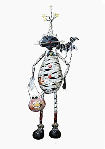 LOOKUR Schmiedeeisenverzierungs-Gartendekoration Halloween Der Lustigen Katzen Der Zeichentrickfilm-Figuren Kleiden Oben Den Landschaftlich Gestaltenden Feiertagsversorgungen des Shops An