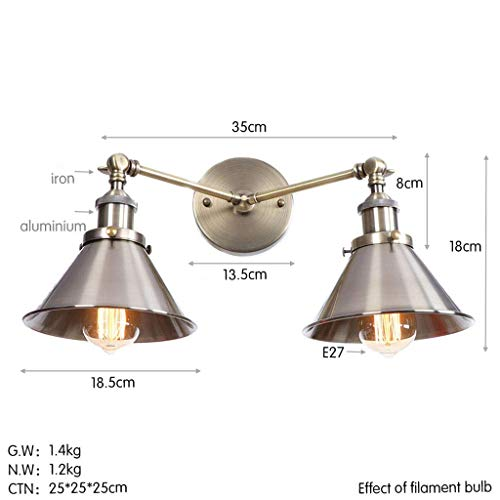 Wandlantaarn, wandlamp van kristalglas, spiegellamp, make-up Light, LED-wandlamp voor industriële verlichting 2 – make-uptafelverlichting verlichting Q