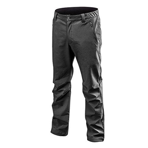 Softshellbroek zwart winter waterdichte softshell broek vrijetijdsbroek werkbroek outdoor broek veiligheidsbroek wandelbroek Large zwart