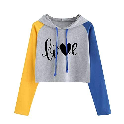Sudadera con capucha para mujer con diseño de corazón y letras de amor, color raglán, manga larga, para regalo de caridad