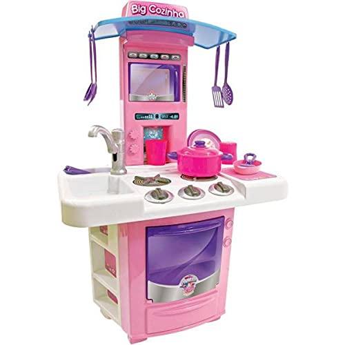 Nova Big Cozinha Infantil Completa, Big Star, 630-NBC, Rosa