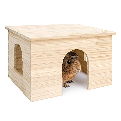 Niteangel Wood House with Window, Chinchilla and Guinea Pigs Hut Hideout