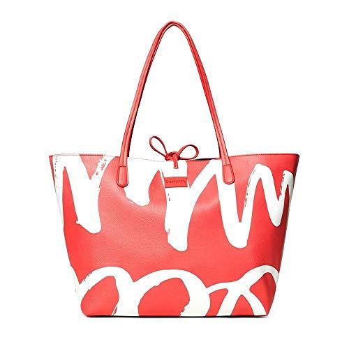 Desigual Organic Geometry Capri Shoulder Bag Carmin