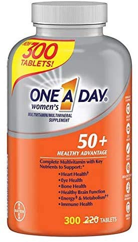 One A Day Women's 50+ Healthy Advantage Multivitamin Multimineral Supplement Tablets, (300 Count)