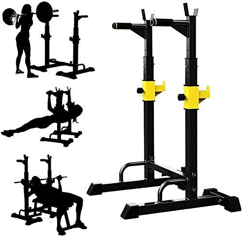 LAZNG Barra de pesas ajustable para gimnasio o sentadillas, para entrenamiento en interiores y gimnasios, equipo de entrenamiento de pesas, multifunción, resistente y duradera.
