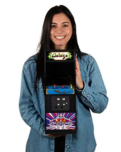 Quarter Arcades Official Galaga 1/4 Sized (17 Inches Tall) Mini Arcade Cabinet by Numskull – Playable Replica Retro Arcade Game Machine – Micro Retro Console