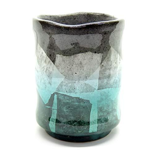 九谷焼 湯のみ 銀彩 陶器 和食器 湯呑み茶碗 日本製