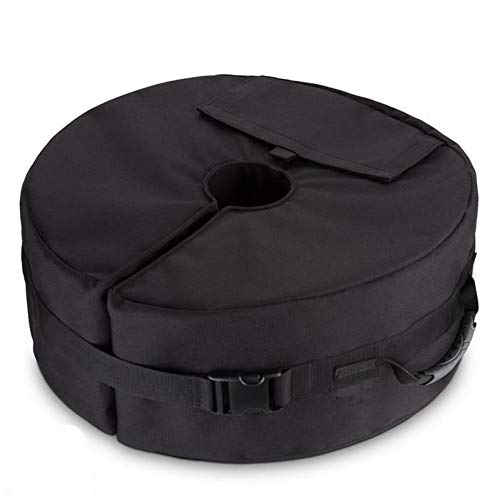 AHGX-Cover Regenschirm Base Gewichtstasche, Fest Zelt Sandsack, Passend Für Irgendein Draussen Terrasse Regenschirmständer,Black,46 * 15Cm