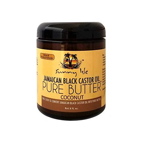 Sunny Isle Jamaican Black Castor Oil Pure Butter, Brown, 8 Fluid Ounce