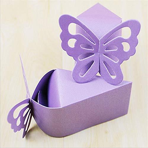 Boîte à Bonbons Européenne/Plateau De Conditionnement De Gâteau De Grande Taille Perle Papillon Perle/Sac Cadeau Pour Enfants De Noël (100 Pièces)