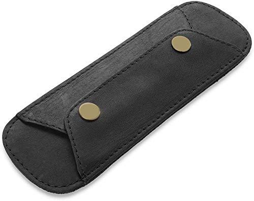 TALED® Schulterpolster Premium - aus echt Büffel-Leder (Vintage Black)