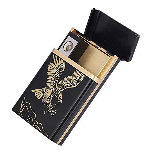 BESTT Caja de Cigarrillos con Encendedor - Estuche portátil 2 en 1...