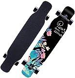 Cruiser Completo Skateboard Monopatín Longboard Longboard completos monopatín 8 capas Cubiertas 46x9 pulgadas trucos Patín calle cepillo crucero for adolescentes principiantes de chicas adolescentes d