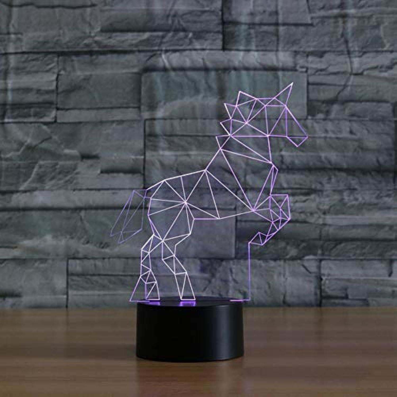 Laofan 7 Farbe Geburtstagsgeschenke Tischlampe 3D Led Schlafzimmer Studie Atmosphre Nachtlicht Für Kinder Schlaf Leuchte,Berührungsschalter
