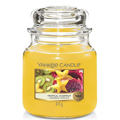 YANKEE CANDLE Candela, Frutta Stella Tropicale, Classic Medium Jar