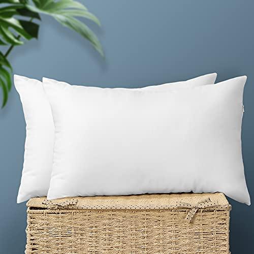 Artscope Pack 2 Bedding Relleno de Cojín Blanco 30 x 50 cm - Muy Mullido - Indeformable - Antialérgico - Fibra Virgen Siliconada - Almohadas de Sofá