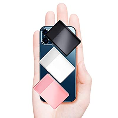 senymin (3 packs) Lighter-Size Portable Charger the Smallest and Lightest Power Bank, Ultra-Compact External Battery, Compatible with iPhone 12/Xs/XR, Android smartphones, etc(Black&White&Pink)
