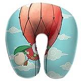 Kopfstütze Nacken,Schlafkissen Für Nacken,Gedächtnisschaum,U-Förmige Kissen,Heißluftballons...