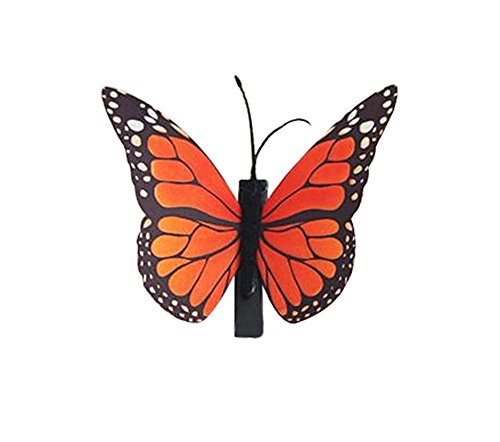 Set de 3 Papillon Pin Hair Fashion Barrette Creative épingle,3.15'',Orange