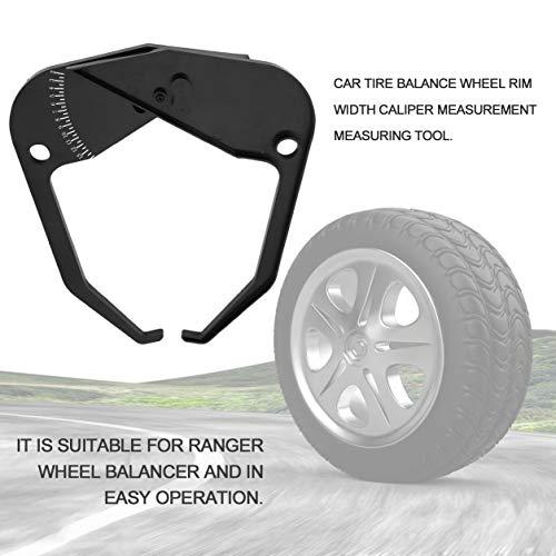 Kongqiabona-UK Balancer Ranger Wheel Balanceador de neumáticos Ancho de llanta Herramienta de medición del calibrador Accesorios para equilibradores de neumáticos