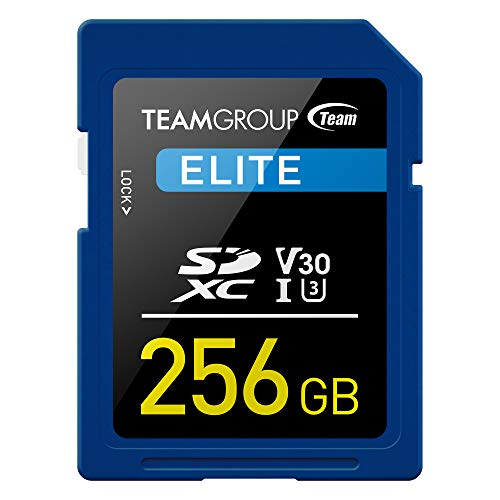 TEAMGROUP Elite 256GB UHS-I U3 SDXC Memory Card U3 V30 4K UHD Read Speed up to 90MB s for Professional Vloggers, Filmmakers, Photographers & Content Curators TESDXC256GIV3001