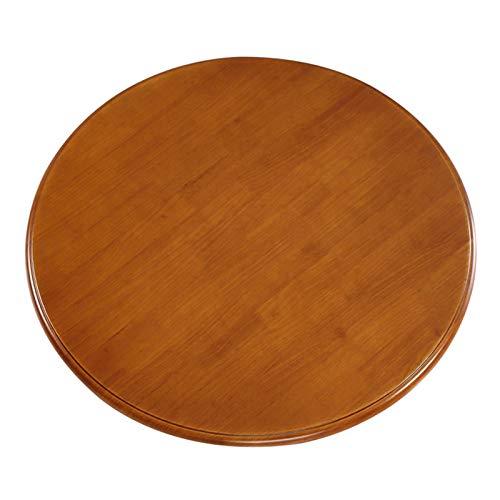 Giradischi Rotondo Legno Massello Lazy Susan, (Diametro 60 Cm) Girevole A 360 Gradi,per Piatto di Servizio (4 Colori)