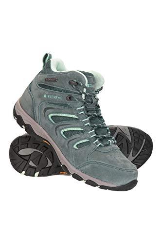 Mountain Warehouse Aspect wasserfeste, haltbare Damen-Wanderstiefel - Obermaterial Synthetik, Schuhe mit Netzfutter, gepolstertes Fußbett - für Camping, Reisen Grün 40 EU