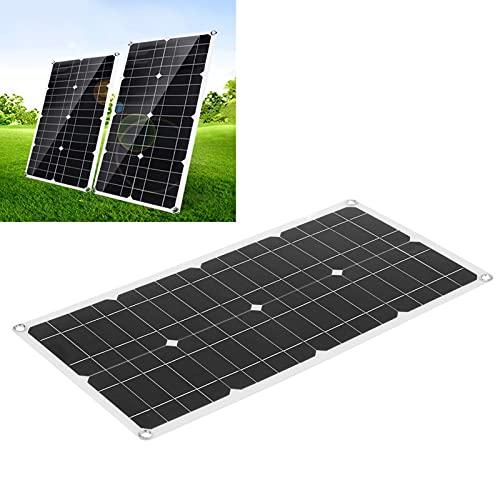 QIMIT Cargador de Panel Solar, Tablero de Cargador Solar Silicio Policristalino 40W para Cámaras de Seguridad Portátiles para Baterías de Coche Automóviles Farola Solar