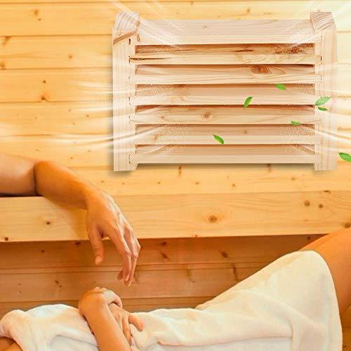 Yisentno Lüftungsgitterplatte, Holz-Saunaklappen, Saunazubehör Lüftungsauslass Lüftungssauna-Raumzubehör für das Dampfbad zu Hause SPA-Saunaraum