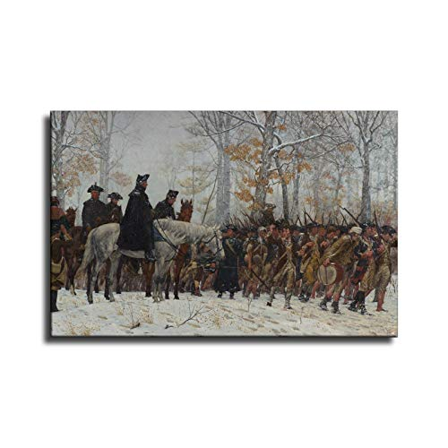 George Washington's Revolutionary War In Valley Forge Wall Art for Living Room Canvas Wall Decor 1 Piece Modern Canvas Pictures Paiting /1187 (8x12 inch,Unframed)